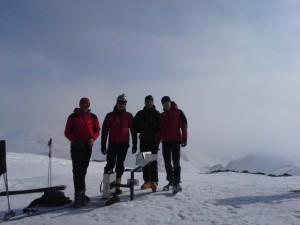 Luis, Reinhard, Andreas und Gerhard am Geier